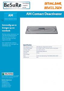 artikelbeveiliging - winkelbeveiliging - productbeveiliging - beveiligingslabels - soft labels - AM - deactivatie - deactiveren - inbouw - opbouw - contact
