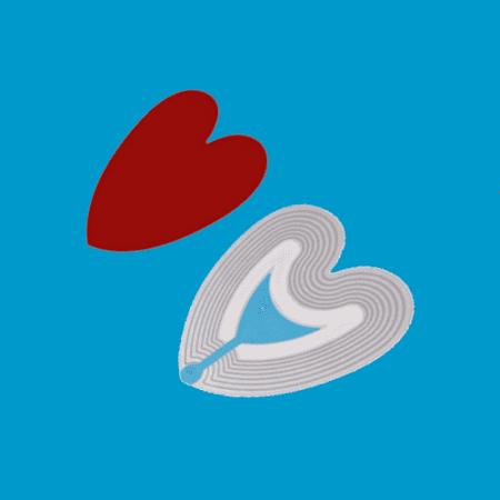 Artikelbeveiliging - winkelbeveiliging - productbeveiliging - beveiligingslabels - beveiligingsetiketten - beveiligingsstickers - rood - hart - heart - 4030-HEART