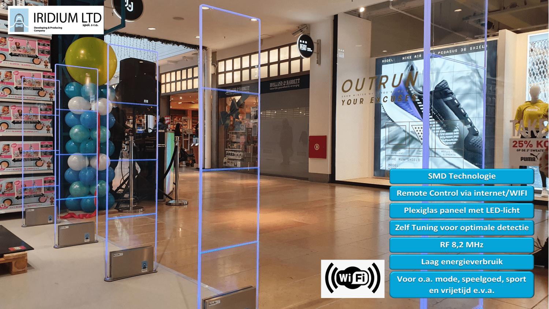 Artikelbeveiliging - detectiepoortjes - winkelbeveiliging - productbeveiliging - Iridium - Sirius - Plexi - RF - Radio Frequent - winkel - winkeldief - winkeldiefstal - beveiligingslabels - beveiligingsetiketten