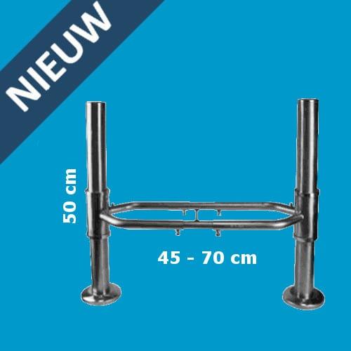 Artikelbeveiliging - aanrijdbeveiliging - anti collision bumper - deflector - stainless steel - verstelbaar - antenne - detectiepoortjes