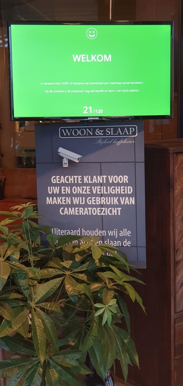 Woon en Slaap Almelo Enschede FootfallCam Safe Occupancy Control