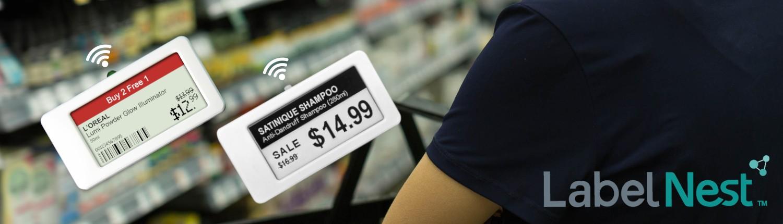 LabelNest - banner - elektronische schaplabel - ESL - electronic shelf label - footfallcam