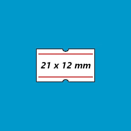 prijsetiket 21x12 punch hole wit rood