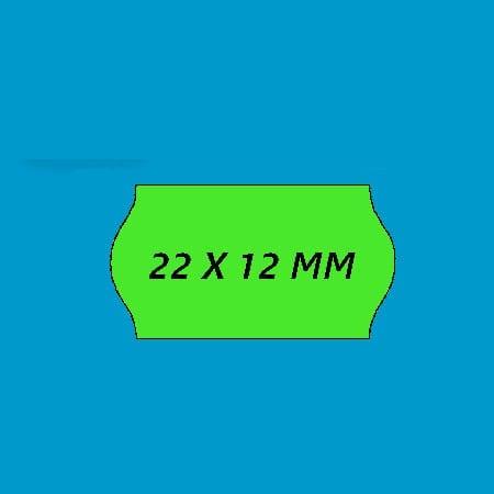 prijsetiket 22x12 fluor groen