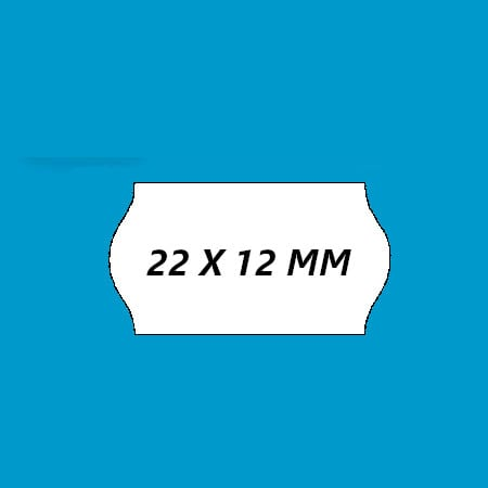 prijsetiket 22x12 wit