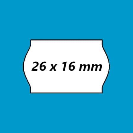 Prijsetiketten 26 x 16 mm - Golfrand