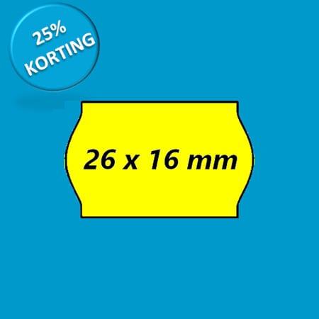 prijsetiket 26x16 golf geel