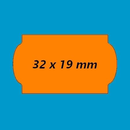 prijsetiket 32x19 fluor oranje golfrand