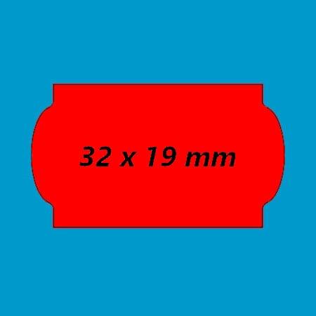 prijsetiket 32x19 fluor rood golfrand