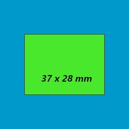 prijsetiket fluor groen