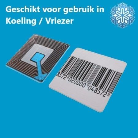 BeSuRe Beveiligingsetiketten RF 40 x 40 mm geschikt voor koelkast, koeling, vriezer, freezer, barcode